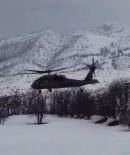 Zorunlu İniş Yapan Helikopter Sorunsuz Havalandı