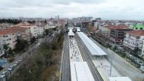 KÜÇÜKYALı - Hizmete Giren Gebze-Halkalı Banliyö Tren Hattı'nın Yolculuğu Havadan Görüntülendi