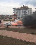 ULUKENT - Parktaki Yangına  Zamanında Müdahale