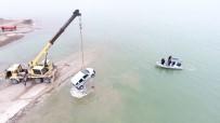 Aracıyla Baraj Gölüne Uçan Şahsı JÖAK Timleri Buldu