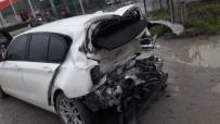 Cip Otomobile Arkadan Çarptı Açıklaması 1 Yaralı