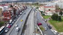 İstanbul'un Katenersiz Tramvay Hattı Havadan Görüntülendi