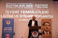 EĞITIM BIR SEN - Başkan Kalkan Açıklaması '4 Yıllık Refakat Döneminde Kayseri'de Üyelerimize Hep Birlikte Hizmet Edeceğiz'