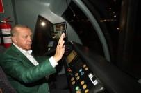 DÜNYA REKORU - Cumhurbaşkanı Erdoğan 3. Etap Raylı Sistemin Test Sürüşünü Yaptı