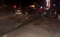 Otomobiller Çarpıştı Açıklaması 1 Ölü, 2 Yaralı