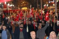 Yozgat'ta Şehitler İçin Fener Alayı Düzenlendi