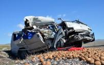Minibüsle Kamyon Çarpıştı Açıklaması 2 Ağır Yaralı