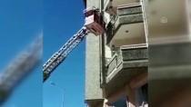 Yangında Mahsur Kalan 5 Kişiyi İtfaiye Kurtardı