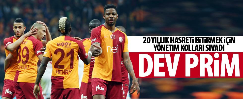 Galatasaray yönetiminden derbi primi