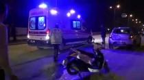 KERVAN - Otomobille Çarpışan Motosikletli Ağır Yaralandı