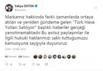 TÜRK HAVA YOLLARı - THY Basın Müşaviri Üstün, 'Türk Hava Yolları Satılıyor' İddialarını Yalanladı