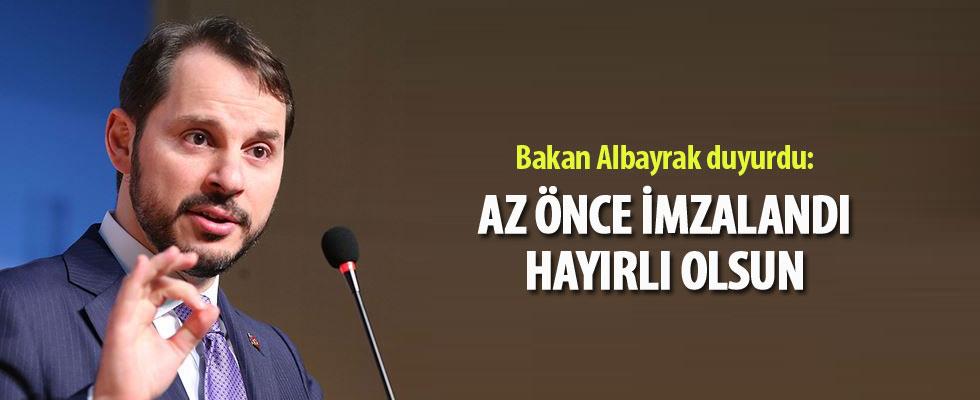 Bakan Albayrak duyurdu: Az önce imzalandı, hayırlı olsun