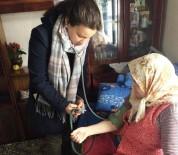 Hisarcık'ta Evde Bakım Hizmeti Verilen Yaşlı Hastalar Unutulmadı