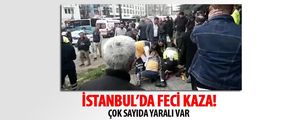 İstanbul Beyazıt'ta halk otobüsü durağa daldı: Çok sayıda yaralı var