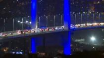 FATIH SULTAN MEHMET KÖPRÜSÜ - İstanbul'un Kuleleri Ve Köprüleri Maviye Büründü