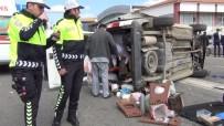 Ters Yöne Dönen Otomobil İle Hafif Ticari Araç Çarpıştı Açıklaması 6 Yaralı