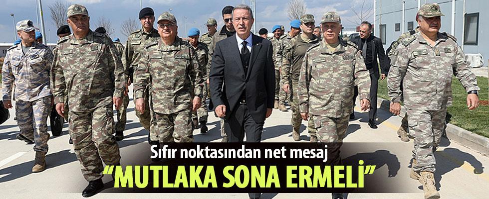 Milli Savunma Bakanı Akar: Fırat'ın doğusunda terörist varlığı sona ermeli