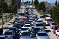 Başkan Ergün Demirci'de Yüzlerce Araçlık Konvoyla Karşılandı