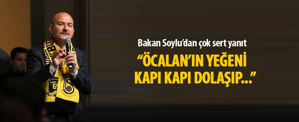 Bakan Soylu'dan çok sert cevap! Öcalan'ın yeğeni kapı kapı dolaşıp onlara oy istiyor