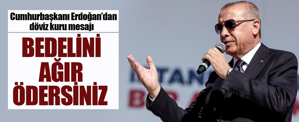 Cumhurbaşkanı Erdoğan: Manipülasyon yapanlara bedelini ödeteceğiz