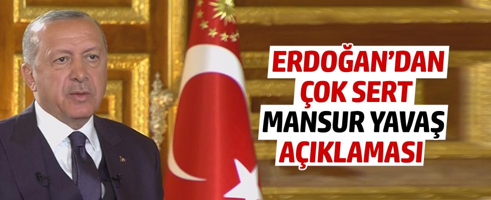 Cumhurbaşkanı Erdoğan'dan çok sert Mansur Yavaş açıklaması
