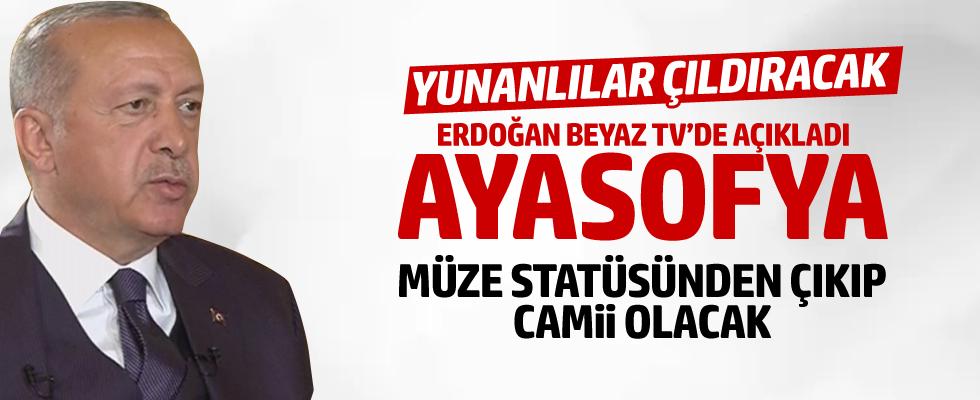 Cumhurbaşkanı Erdoğan'dan flaş Ayasofya açıklaması