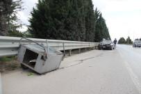 Seyyar Tatlı Arabası İle Girdiği D100'de Otomobilin Çarptığı Çocuk Ağır Yaralandı