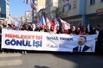 Ataşehir'de İsmail Erdem'in Sevgi Yürüyüşü'ne Binlerce Ataşehirli Katıldı