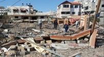 HAMAS - Bombalanan Hamas Liderinin Ofisinin Enkazı Görüntülendi