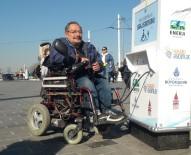 KAMERA - Taksim'de Engelliler Yine Mağdur, Üçüncü Kez Çaldılar