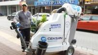 TEMİZLİK GÖREVLİSİ - Burhaniye'de Sokaklara Modern Temizlik Aracı
