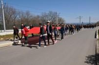 GÜZERGAH - OMÜ'lü Öğrenciler Şehitleri, Aksu-Kocabaş Tepesi'nden Selamladı
