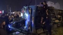 HALK OTOBÜSÜ - Freni Tutmayan Otobüs Devrildi Açıklaması 1 Yaralı