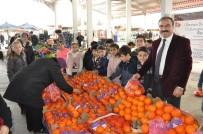 Öğrenciler Mehmetçikler İçin 1 Ton Portakal Sattı