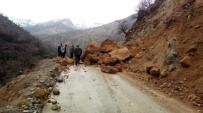 Dev Kaylar Grup Köy Yolunu Ulaşıma Kapattı
