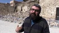İstinat Duvarı Yıkılınca Tarihi Mescidin İzi Ortaya Çıktı