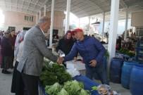 AHMET DEMİR - Başkan Ertürk, Başaran Kapalı Pazaryeri Esnafını Ziyaret Etti
