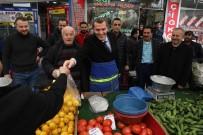 PAZARCI - AK Parti Zeytinburnu Adayı Ömer Arısoy Pazarcı Önlüğünü Giyerek Satış Yaptı