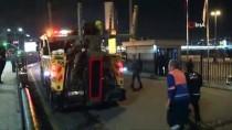 Eminönü'nde Otomobil Denize Düştü