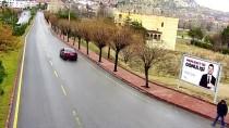 Nevşehir'de Aracın Yayaya Çarpması Güvenlik Kamerasında