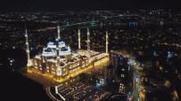 ÇAMLıCA - Çamlıca Cami Regaib Kandil'inde Havadan Görüntülendi