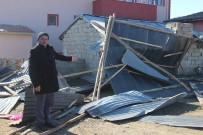 Şiddetli Fırtına Erzincan'da Çatıları Uçurdu