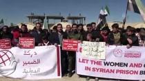 AZEZ - Suriye'de Mahkum Kadın Ve Çocuklar İçin Eylem Yapıldı