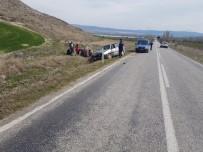Kontrolden Çıkan Otomobil Şarampole Uçtu