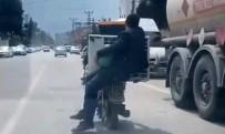 REYHANLI - Koca Klimayı Motosikletle Taşıdılar