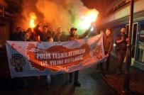 POLİS MERKEZİ - (Özel) Meşale Ve Pastayla Karakola Giden Vatandaşlar Polislerin Gününü Kutladılar