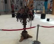 KEMERBURGAZ - (ÖZEL) İstanbul Havalimanı'nda İnşaat Atıkları Sanat Eserine Dönüştü