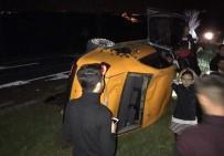 BEŞPıNAR - Otomobil Takla Attı Açıklaması 7 Yaralı