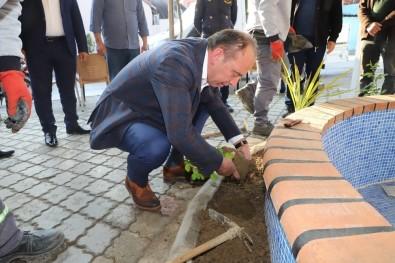 Başkan Akın, Hem Çiçek Ekti Hem De Vatandaşlarla Buluştu