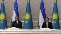 RESMİ KARŞILAMA - Kazakistan Cumhurbaşkanı Tokayev Özbekistan'da